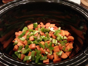 veggies in slow cooker