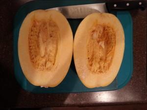squash cut half