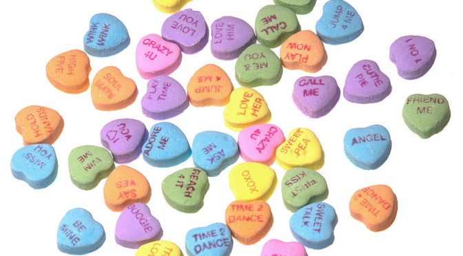 List of Valentines Day Candy Heart Sweetheart Flavors